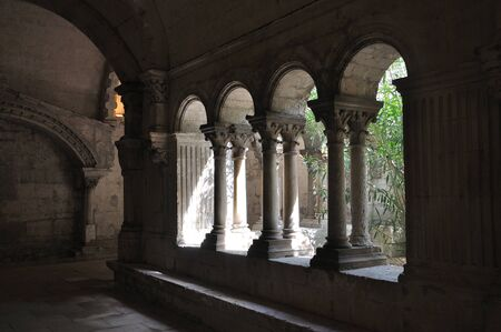 religious monument. spiritual retreat and reflection in the abbey, France