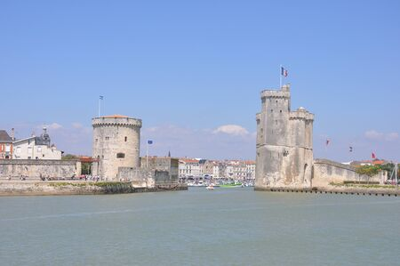 tourist site of La Rochelle, France. port and its surroundings