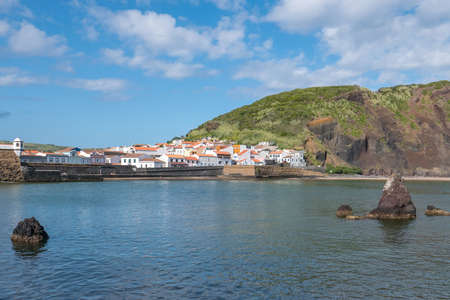 Walk on the Azores archipelago. Discovery of the island of Faial, Azores. Portugal. Europe. 免版税图像