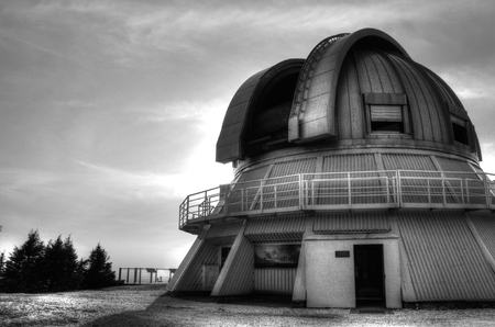 observatory mont megantic Stock Photo