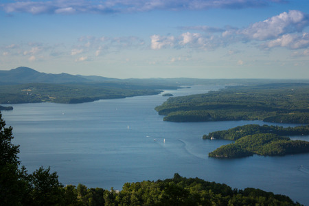 lake memphremagog for the top of mont owls head