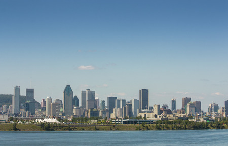 view of the skyline of montreal canada