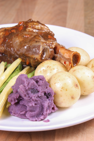 Roasted Veal Chop with vegetables