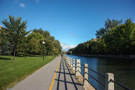 rideau canal: Rideau canal in Ottawa, Canada during summer Stock Photo