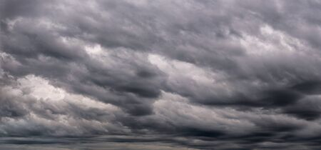 stormy sky: Dark stormy sky with clouds Stock Photo