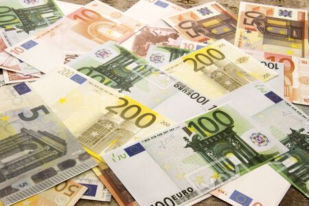 monthly salary: Background with money euro