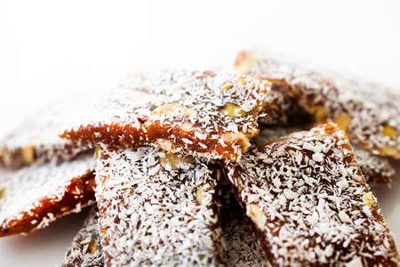 Traditional turkish dessert cezerye. Banque d'images
