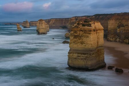 View of the Twelve Apostles rock formation.