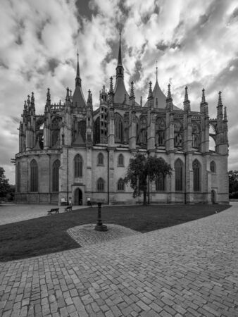 Saint Barbara roman catholic church in town Kutna Hora, Czech republic 스톡 콘텐츠