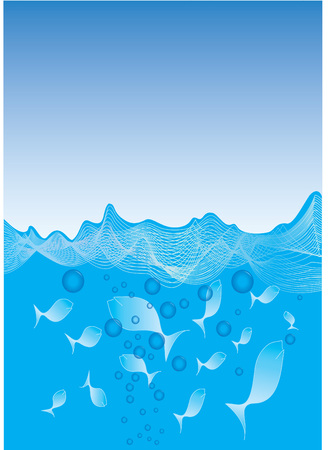abstract images of blue sea fish