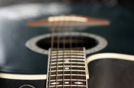 close up of a guitar photo