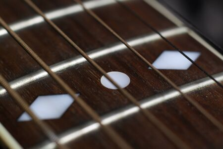 close up of a guitar Stock Photo
