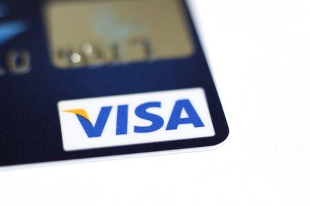 tarjeta visa: cerca de una tarjeta de crédito