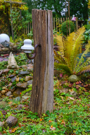 Oak Pillar In The Garden Yard Decoration Stock Photo   88456843