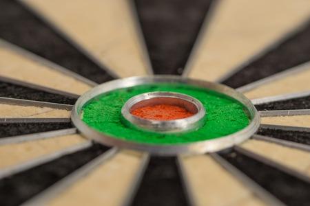 Bulls eye, close up