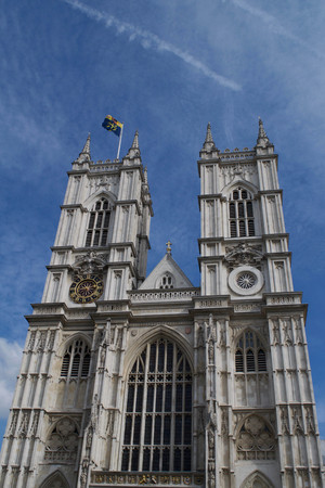 Exterior view of Westminster Abbey