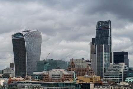 ロンドンのスカイラインの景観