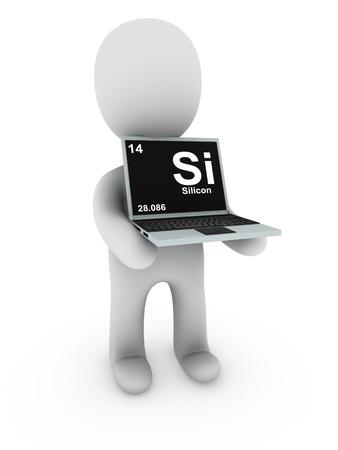 silicon: silicon on screen laptop