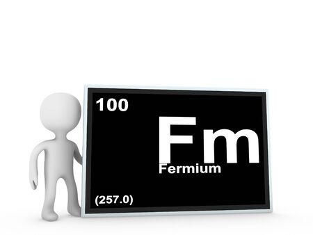 fermium panel  Stock Photo