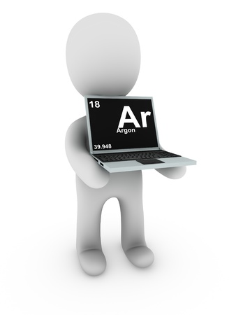 argon on screen laptop  Stock Photo - 11355081