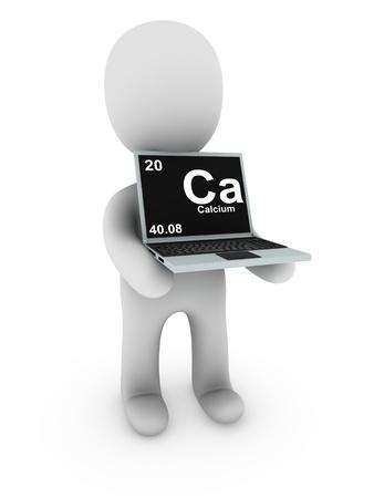 calcium on screen laptop