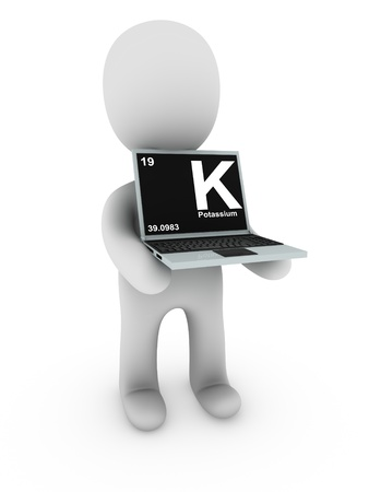 potassium on screen laptop  photo