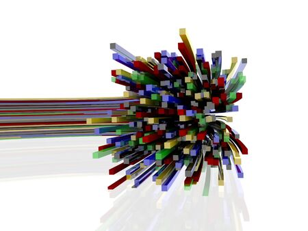 optic: Optic fibres  Stock Photo