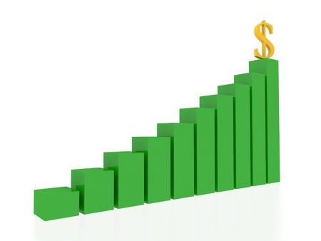 dollar graphic  Stock Photo