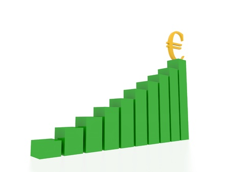 euro graphic  Stock Photo