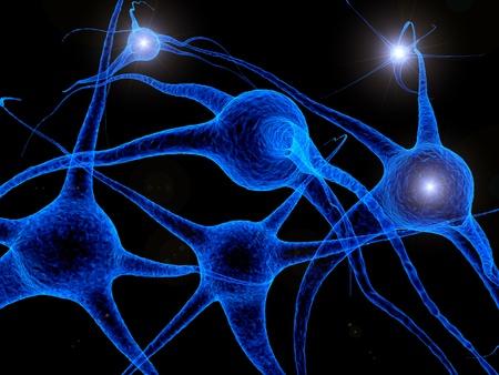 celulas: c�lulas azules Foto de archivo