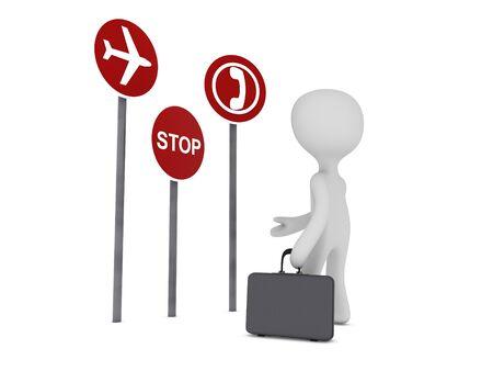ビジネスマンや標識の交通