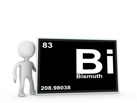 bismuth: bismuth panel  Stock Photo