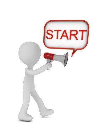 start message