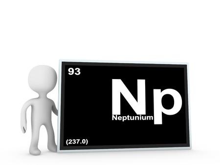 Neptunium panel  Stock Photo - 11778769
