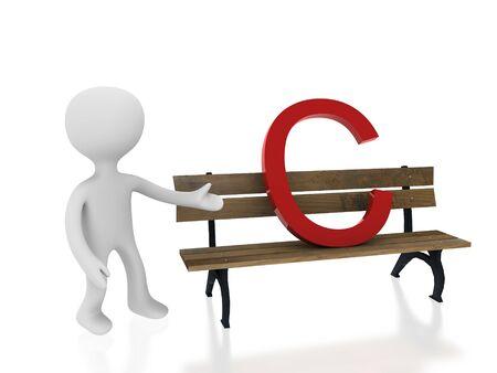 letter c on desk Stock Photo