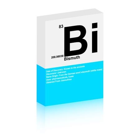 bismuth: bismuth symbol Illustration