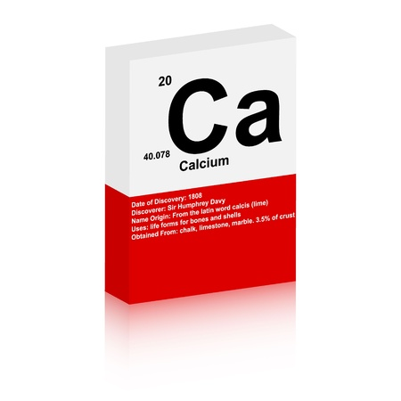 calcium: calcium symbol Illustration