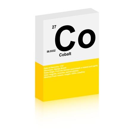 cobalt: cobalt symbol Illustration