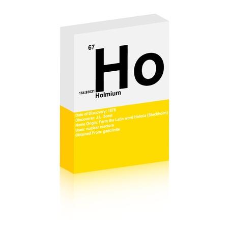 holmium symbol Vector
