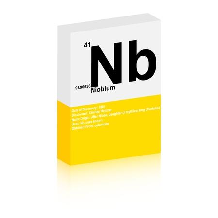 Niobium symbol Stock Vector - 13345183