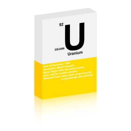 uranium: uranium symbol Illustration