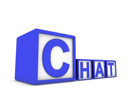 chat make of boxes Stock Photo - 13467524