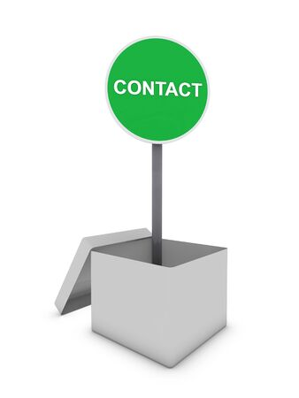 contact sign in box photo