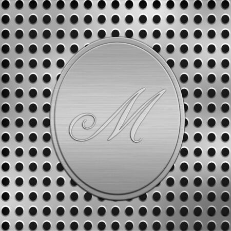 letter M silver metal