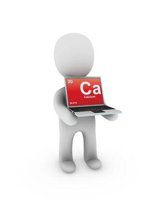 calcium: calcium symbol on screen laptop