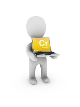 chromium: chromium symbol on screen laptop Stock Photo