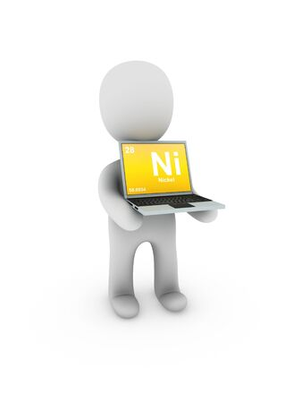 nickel: nickel symbol on screen laptop