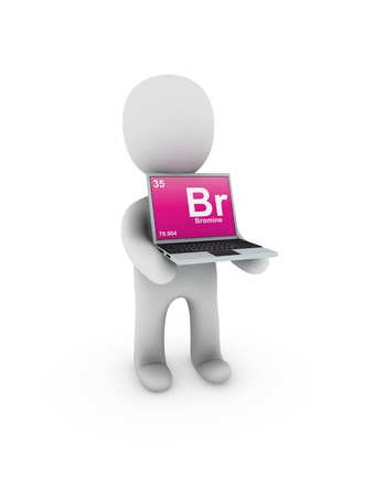 bromine symbol on screen laptop photo