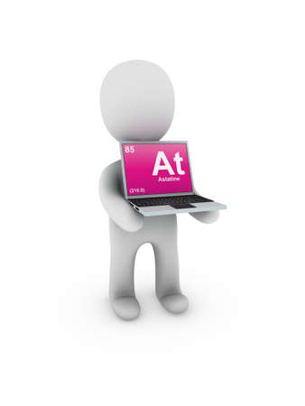 astatine symbol on screen laptop Stock Photo - 13539529