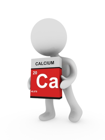 3d man carry a calcium box Stock Photo